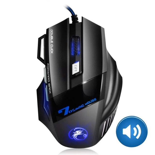 Gaming Mouse Computer Ergonomic Mouse Wired Black - 1