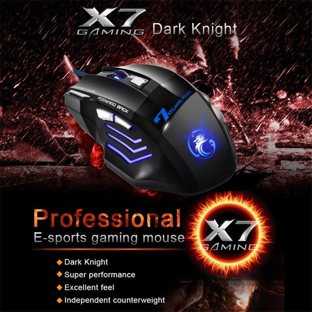 Gaming Mouse Computer Ergonomic Mouse Wired Black - 4