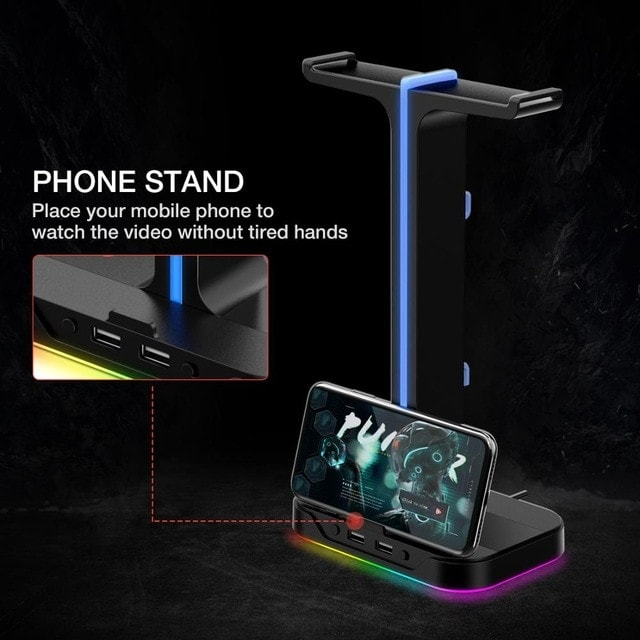 Havit Gaming Headphone Stand & Wired Black - 4
