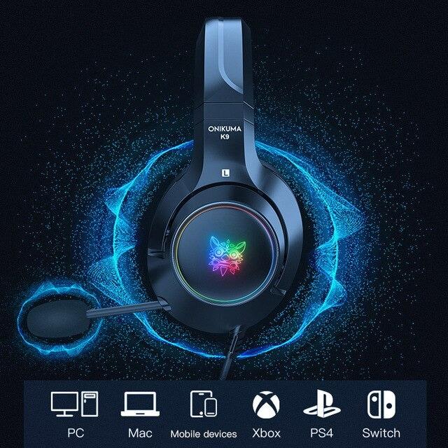 Headset casque PS4 Gaming Headphones Blue - 6