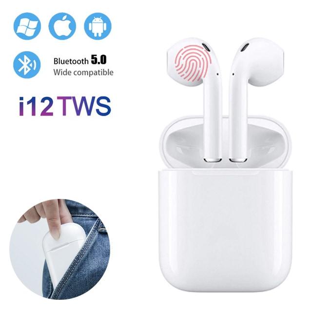 i12 TWS Bluetooth Earphone - White - 1