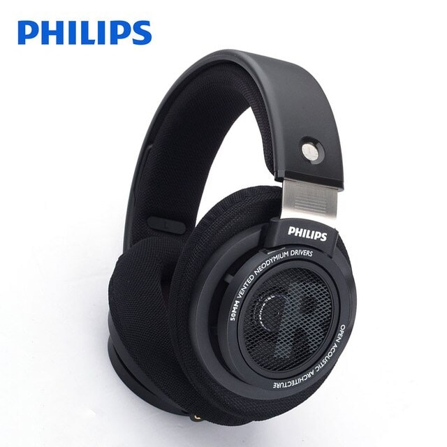 Original Philips SHP9500 High-quality Sound headset with Microphone Black - 1