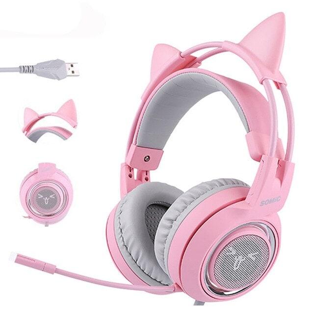 Pink Gaming Headset 7.1 Pink - 1