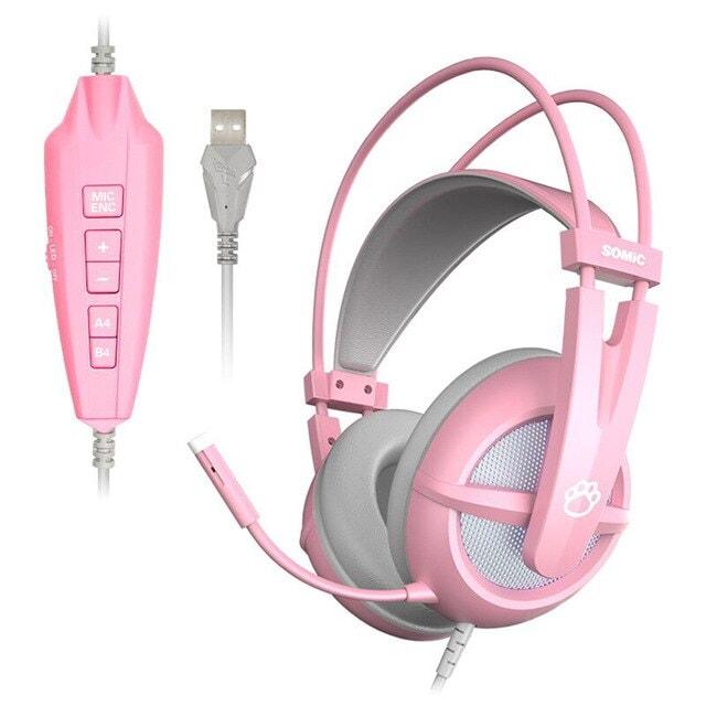 Pink Gaming Headset 7.1 Pink - 3