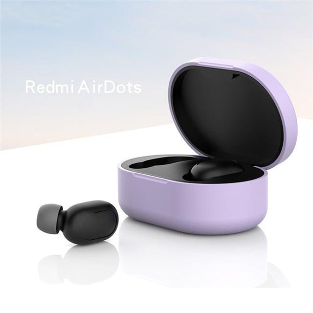 Silicone Protective Cover Earphone Case for Xiaomi Redmi Airdot  Purple - 2