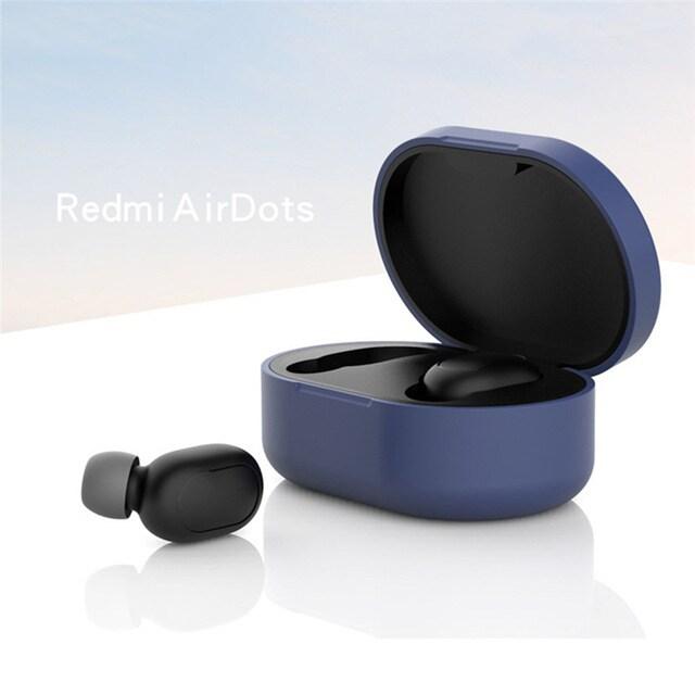 Silicone Protective Cover Earphone Case for Xiaomi Redmi Airdot  Purple - 5