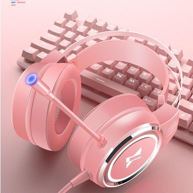 USB Wired Earphone Headset Black - 2