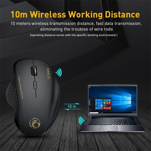 Wireless Mouse Ergonomic Computer Black - 4