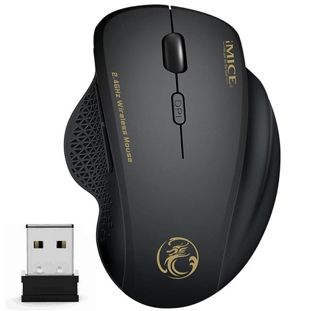Wireless Mouse Ergonomic Computer Black - 1