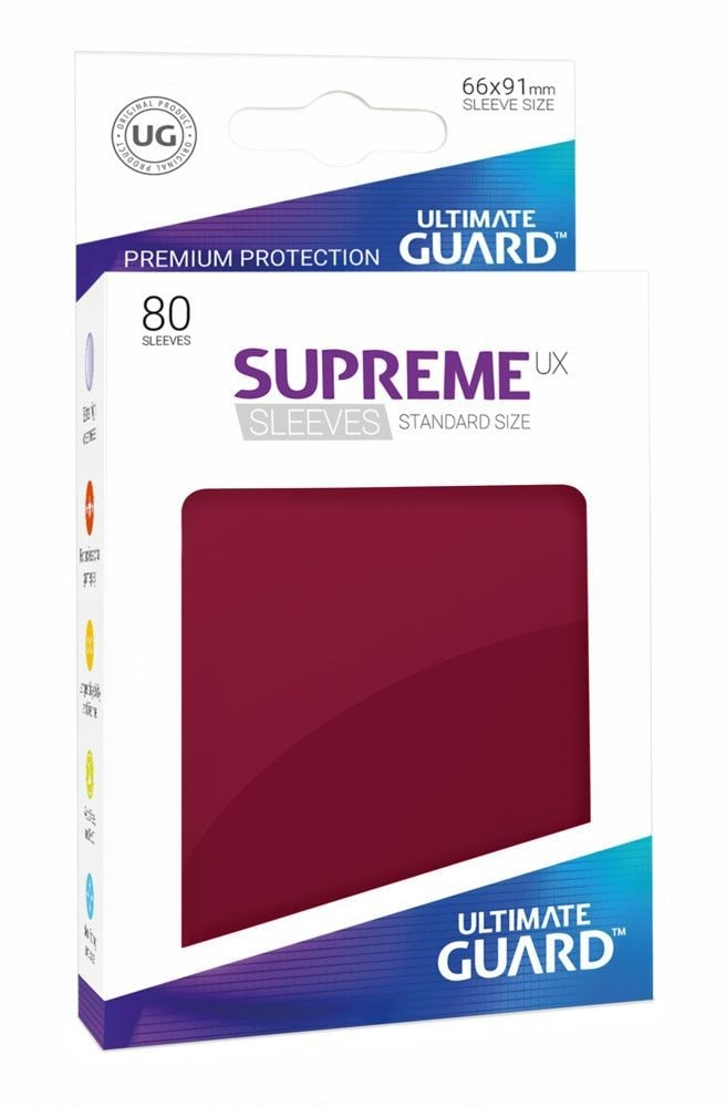 Ultimate Guard Koszulki Supreme UX Standard Bordowe (80) - 1