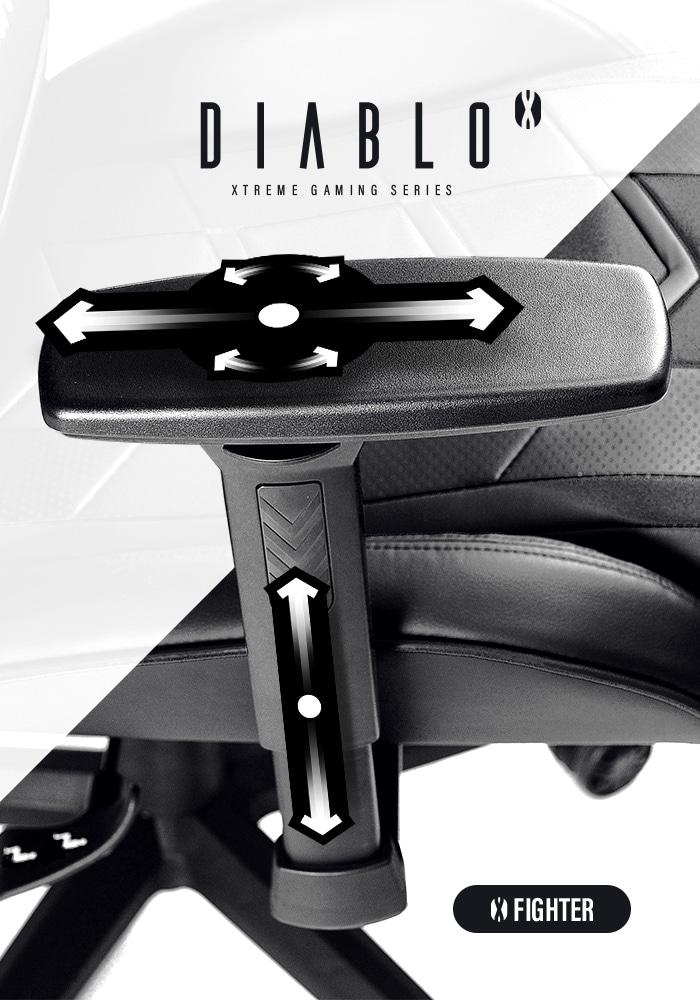 DIABLO X-FIGHTER Gaming Chair Black & black - 5