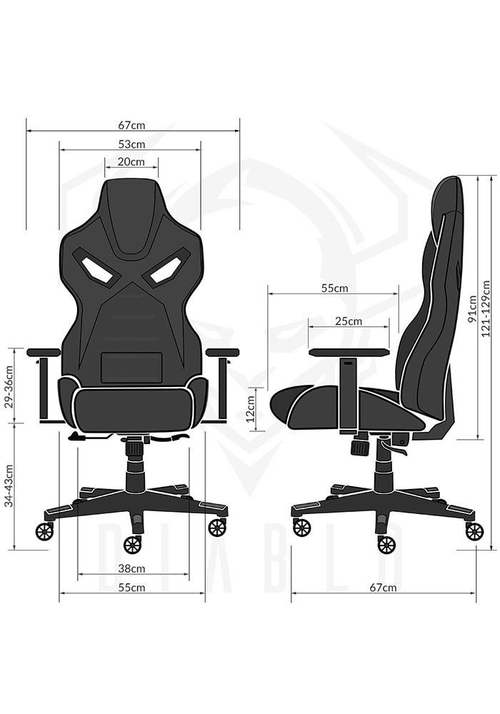 DIABLO X-FIGHTER Gaming Chair Black & black - 8