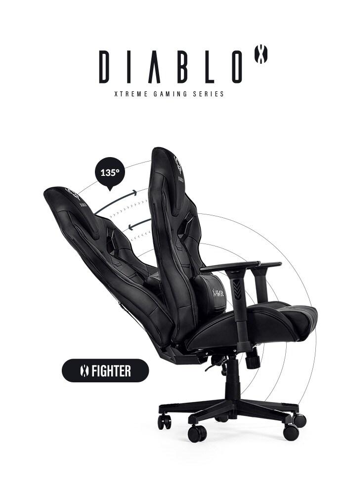 DIABLO X-FIGHTER Gaming Chair Black & black - 10