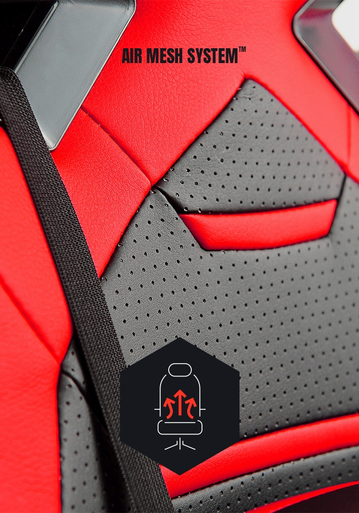 DIABLO X-FIGHTER Gaming Chair Black & red - 3