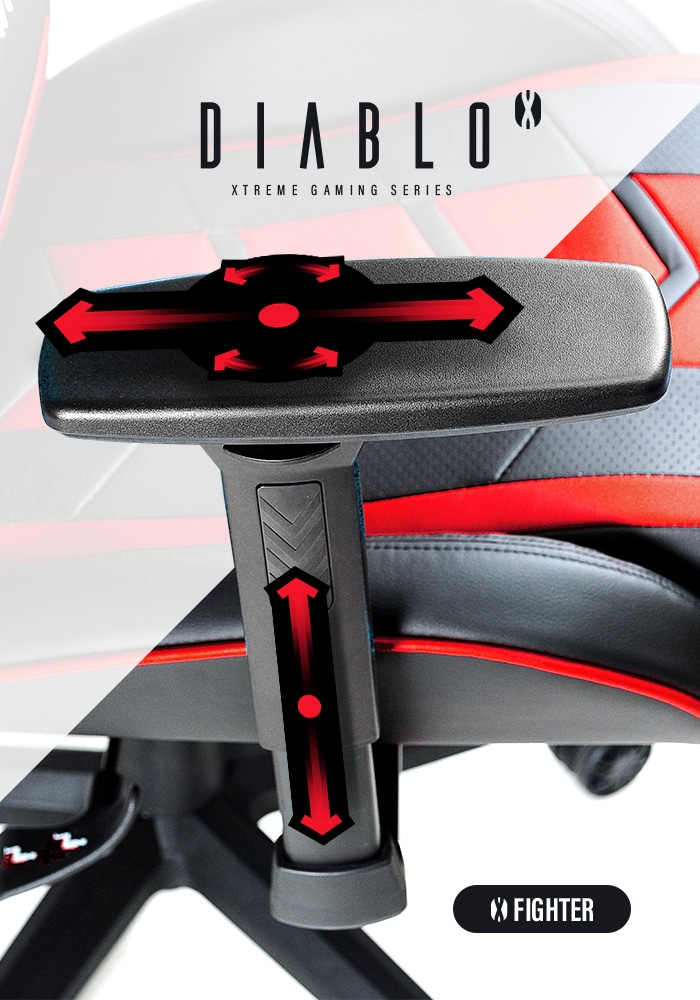 DIABLO X-FIGHTER Gaming Chair Black & red - 5