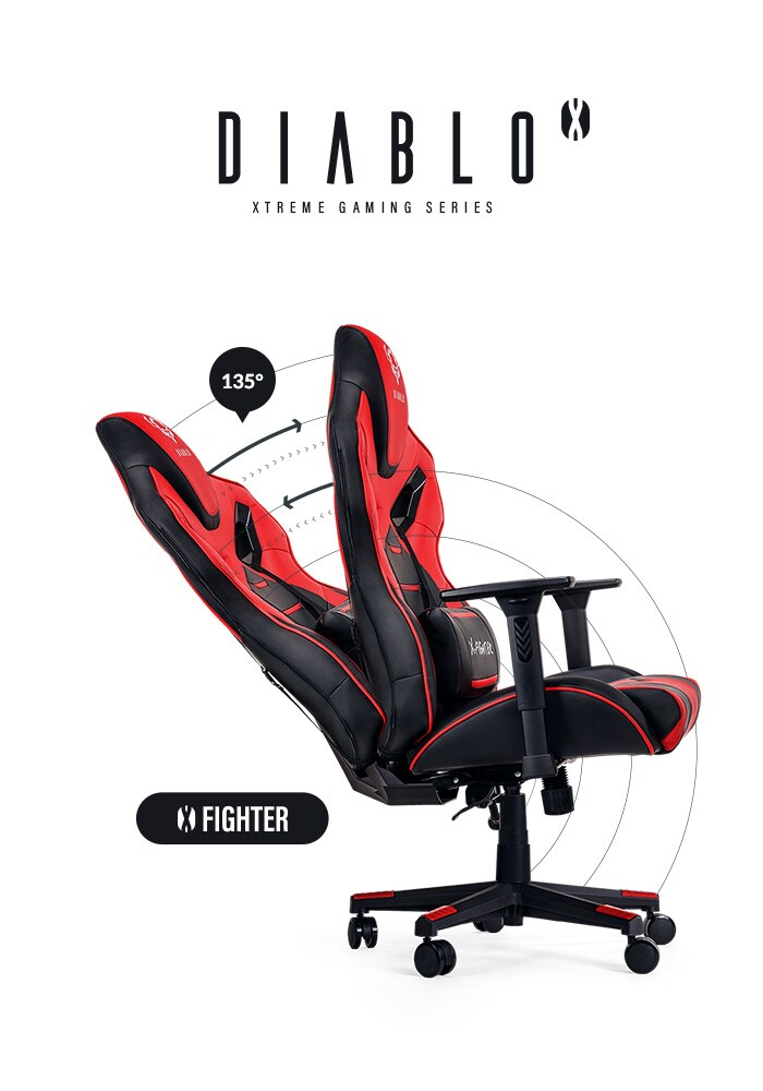 DIABLO X-FIGHTER Gaming Chair Black & red - 10