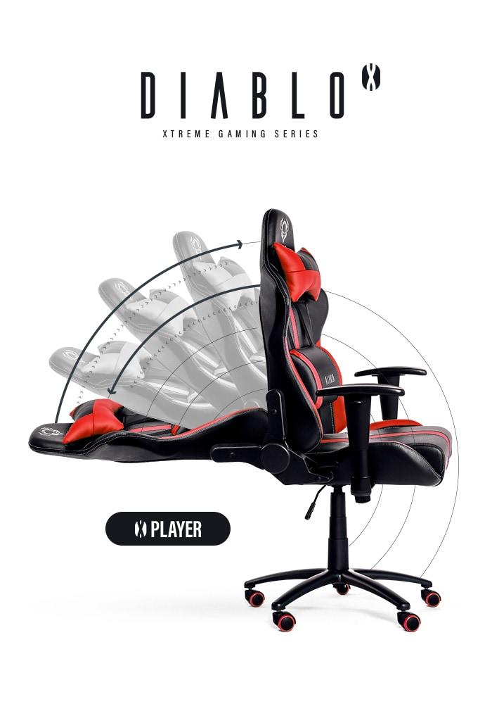 DIABLO X-PLAYER Gaming Chair Black & red - 4