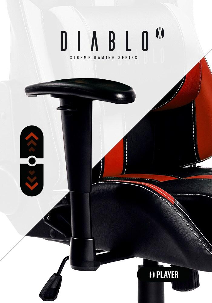 DIABLO X-PLAYER Gaming Chair Black & red - 6