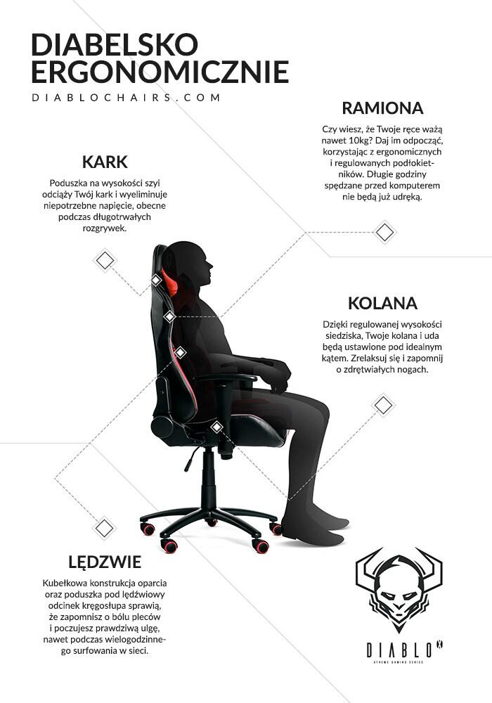 DIABLO X-PLAYER Gaming Chair Black & red - 7
