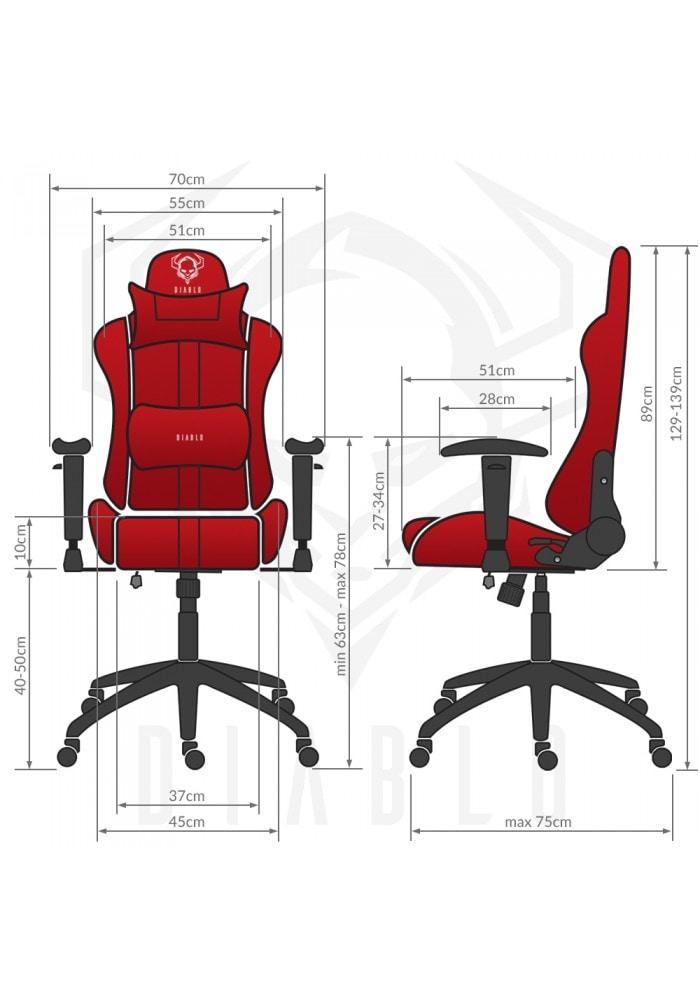 DIABLO X-PLAYER Gaming Chair Black & red - 8