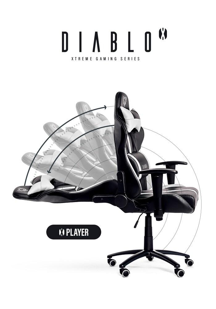 DIABLO X-PLAYER Gaming Chair Black & white - 5