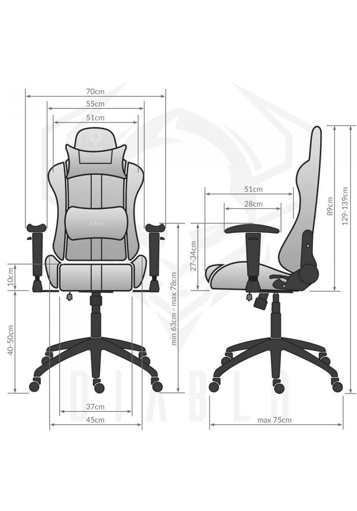 DIABLO X-PLAYER Gaming Chair Black & white - 8