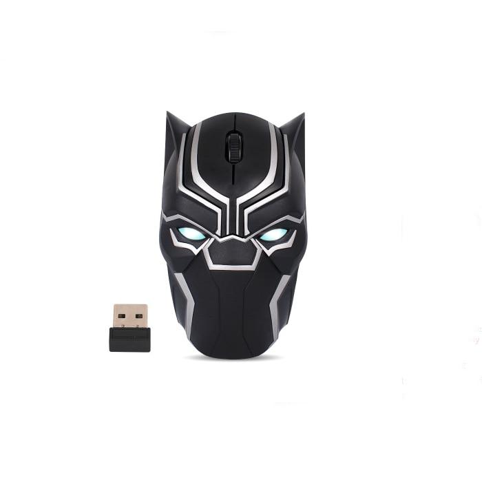 Original Marvel 2.4G Wireless Gaming Mouse Mice 1200DPI Black Panther - 5