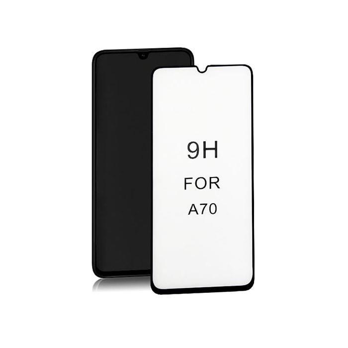 Szkło Ochronne Do Samsung Galaxy A70 | 6D | Pełne | Czarne - 1