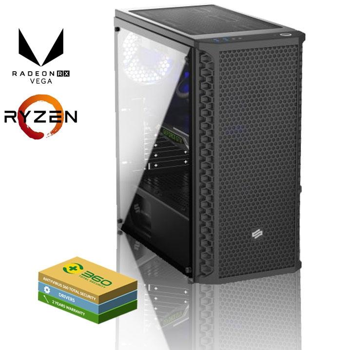 EXGM 1100 Gaming PC | Ryzen 5 2600 8 GB AMD Radeon RX 570 512 Windows 10 Home - 1
