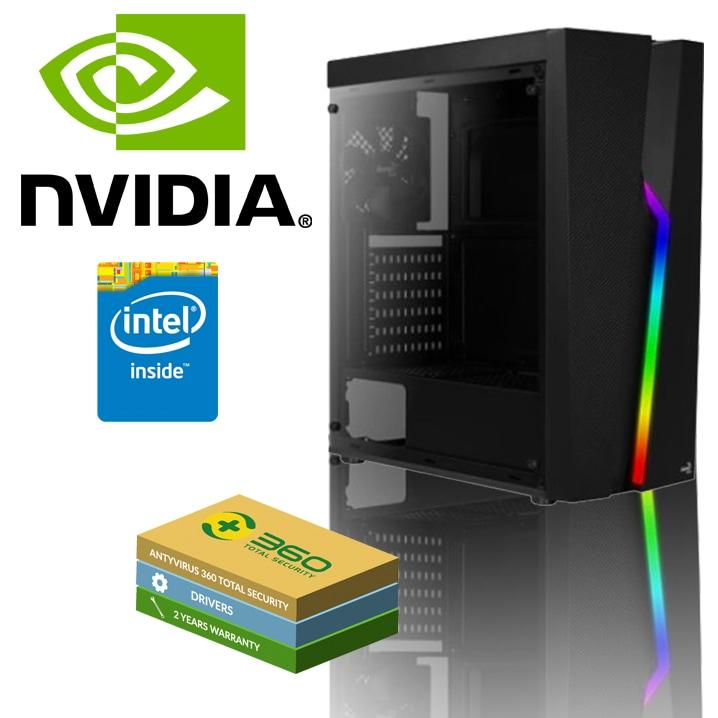 EXGM 9300 Gaming PC   i3-9100F 8 GB NVIDIA GeForce GTX 1050Ti 240 Windows 10 Home - 1