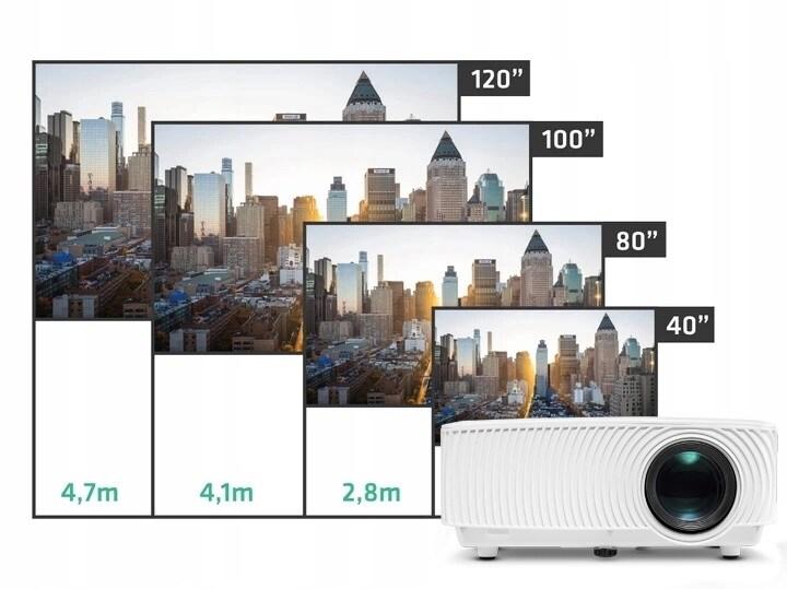 Rzutnik Projektor Overmax Multipic 2.4 Led Hd Wifi - 5