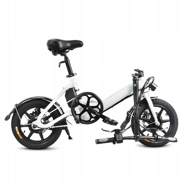 FIIDO D3 Folding Electric Bike 250W 7.8Ah 14 inches - White - 6