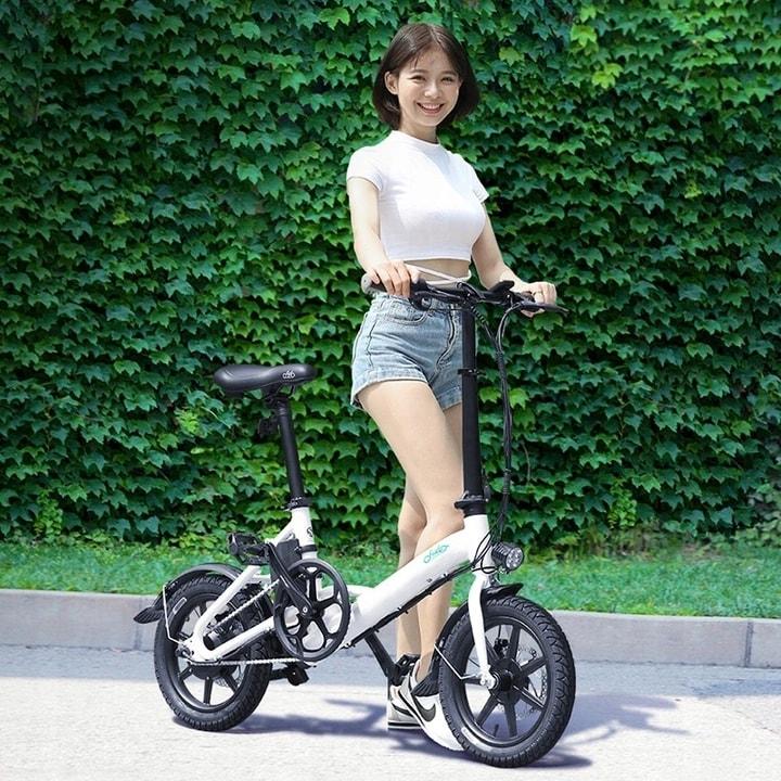 FIIDO D3 Folding Electric Bike 250W 7.8Ah 14 inches - White - 3