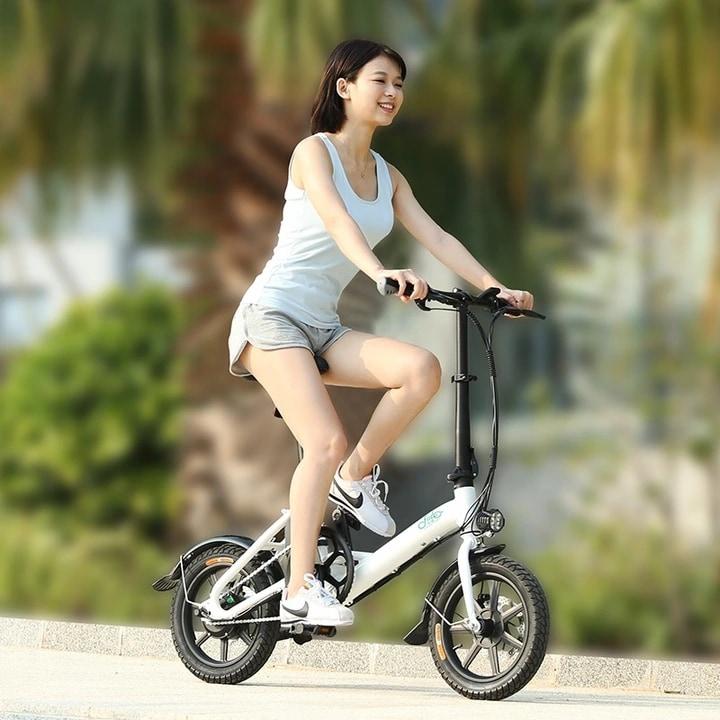 FIIDO D3 Folding Electric Bike 250W 7.8Ah 14 inches - White - 4