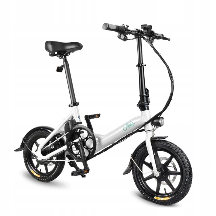 FIIDO D3 Folding Electric Bike 250W 7.8Ah 14 inches - White - 2