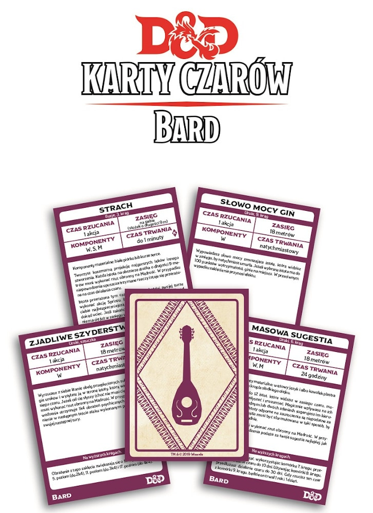 Dungeons & Dragons: Karty czarów - Bard - 5