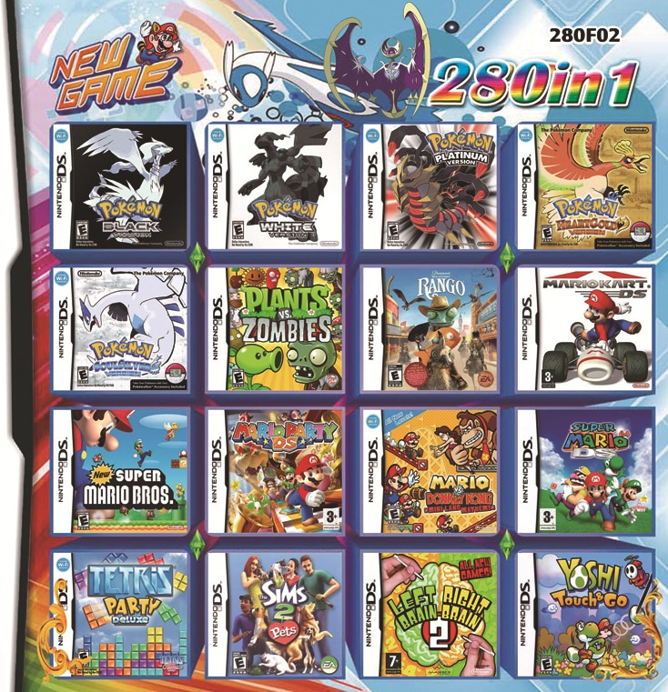 280 in 1 Video Game Card Cartridge for Nintendo NDS NDSL NDSI 2DS 3DS Nintendo 3DS - 1