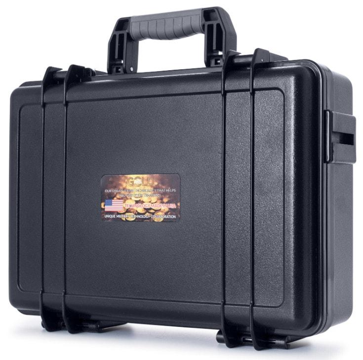 Original The Real Gold AKS Handhold Pro Metal/Gold Detector 6000M Range 6 Antenna Diamond Finder w/Case - Black - 11