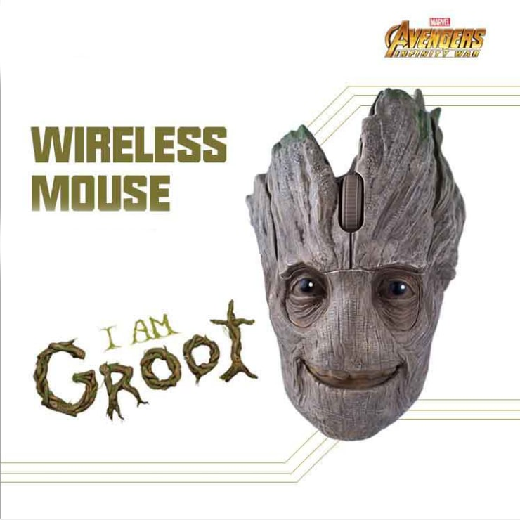 Original Marvel 2.4G Wireless Gaming Mouse Mice 1200DPI Groot - 6