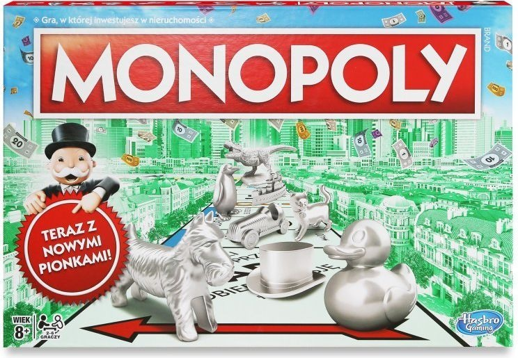 Hasbro Monopoly Klasyczne z nowymi pionkami (C1009) - 1