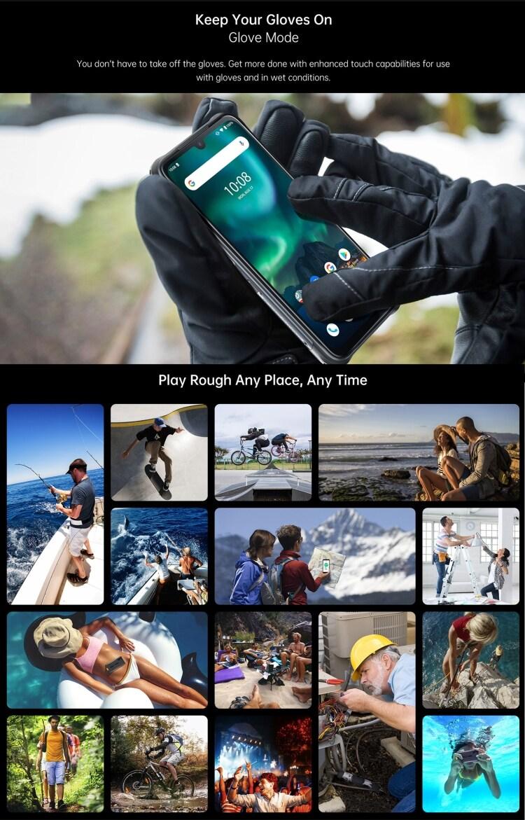UMIDIGI BISON Rugged Phone, 6GB+128GB (Orange) Orange 128 GB 6 GB - 11