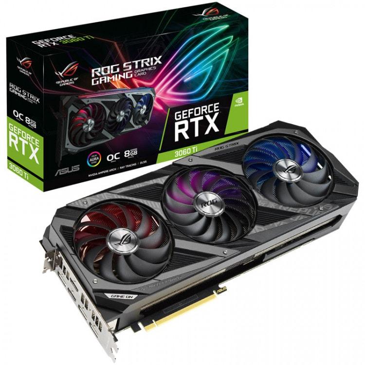ASUS GeForce RTX 3060 Ti 8 GB ROG Strix GAMING V2 LHR Graphics Card 8 GB - 1
