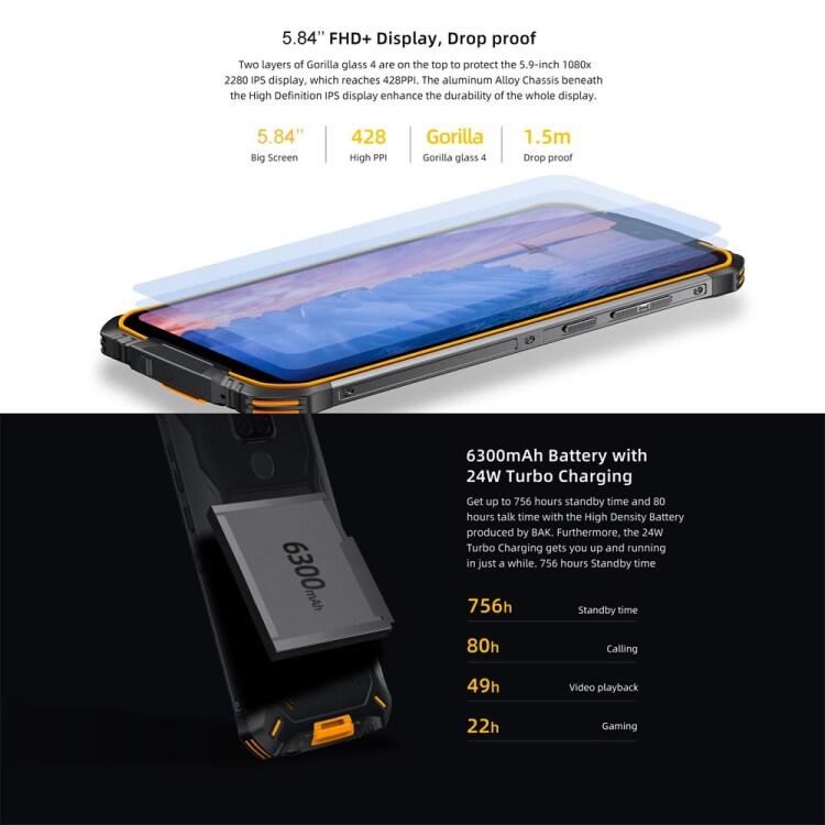 DOOGEE S68 Pro Rugged Phone, 6GB+128GB - 7