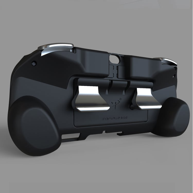 L2 R2 Hand Grip Handle Case & L3 R3 Trigger Button Touchpad Black For PS VITA 2000 - 8