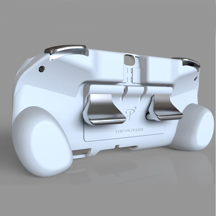 L2 R2 Hand Grip Handle Case & L3 R3 Trigger Button Touchpad White For PS VITA 2000 - 2