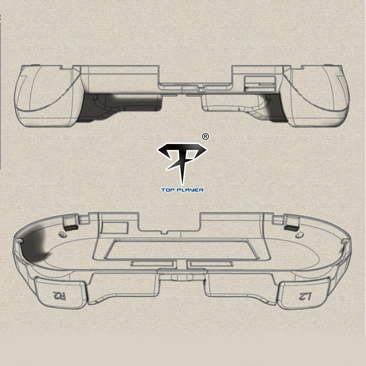 L2 R2 Hand Grip Handle Case & L3 R3 Trigger Button Touchpad White For PS VITA 2000 - 10