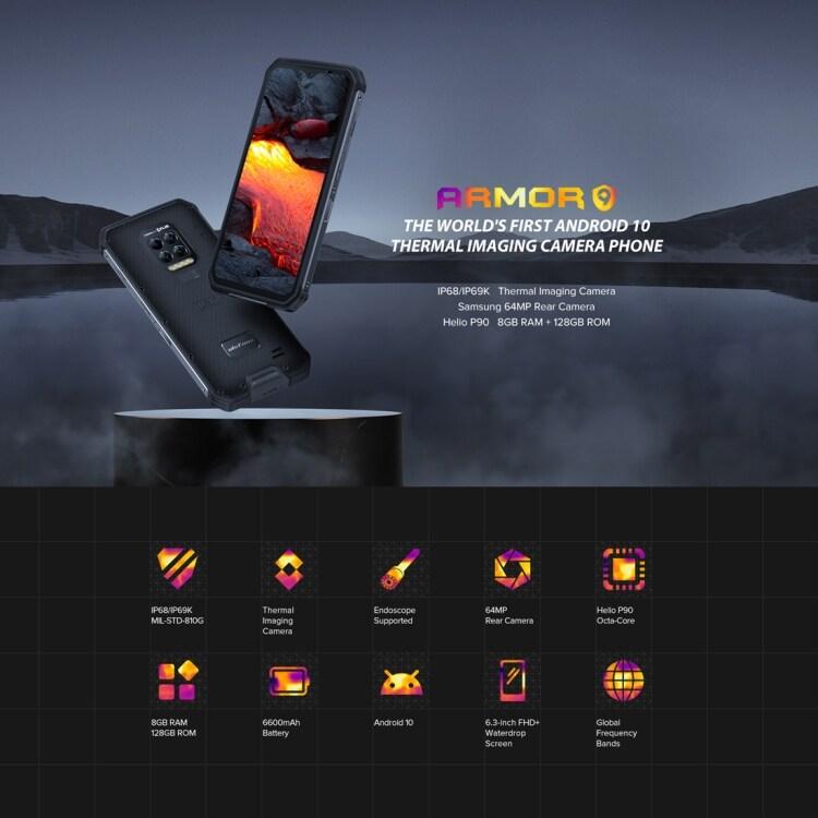 Ulefone Armor 9 Rugged Phone, Thermal Imaging Camera, 8GB+128GB - 5