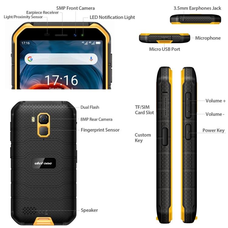 Ulefone Armor X7 Pro Rugged Phone, 4GB+32GB (Yellow) - 2