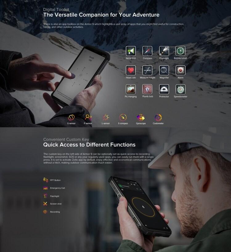 Ulefone Armor 9 Rugged Phone, Thermal Imaging Camera, 8GB+128GB - 8