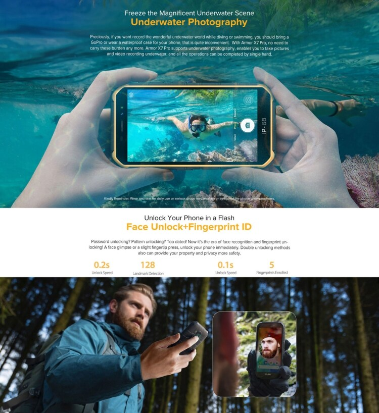 Ulefone Armor X7 Pro Rugged Phone, 4GB+32GB (Yellow) - 11